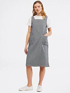 White Stuff Arty Stripe Pinny Dress Seawash Blue Stripe