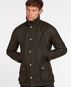 Barbour Ashby Wax Jacket Olive