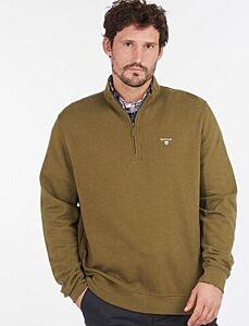 Barbour Bankside Half Zip Sweatshirt Dark Olive