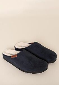 Brakeburn Men's Faux Suede Slippers Navy