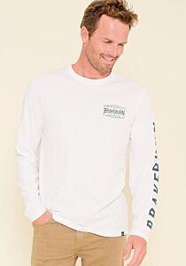 Brakeburn Cold Water Surf Long Sleeve T-Shirt White