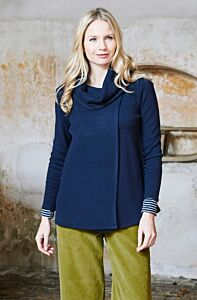 Lily and Me Bea Wrap Jacket Navy