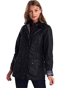 Barbour Beadnell Wax Jacket Black