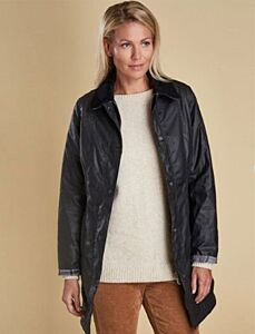 Barbour Belsay Wax Jacket Black