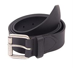 Barbour Matt Leather Belt Black