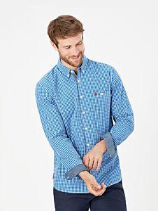 Joules Abbott Classic Fit Shirt Blue Gingham