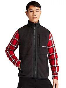 Timberland Mix Media High Pile Fleece Vest Black