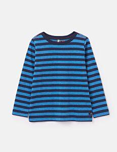Joules Marlin Long Sleeve Stripe T-Shirt Blue Stripe
