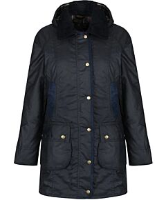 Barbour Bower Waxed Jacket Navy