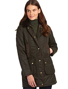 Barbour Bower Waxed Jacket Olive