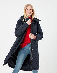 Joules Chatham Longline Quilted Coat Marine Navy
