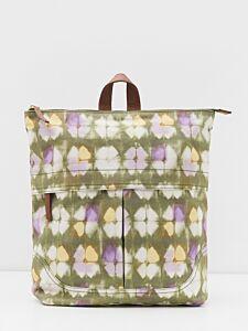 White Stuff Carrie Printed Backpack Green Print