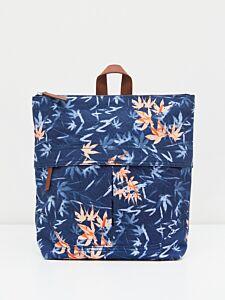 White Stuff Carrie Printed Backpack Blue Print
