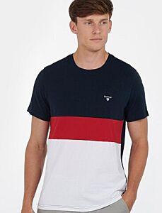 Barbour Castle Panel T-Shirt Navy