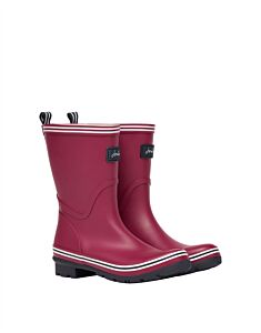 Joules Coastal Packable Mid Height Wellies Berry