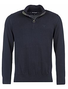 Barbour Cotton Half Zip Sweater Navy