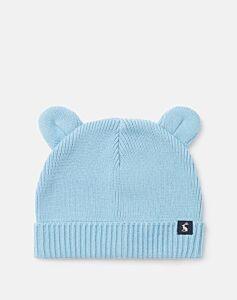 Joules Cub Ribbed Hat Haze Blue