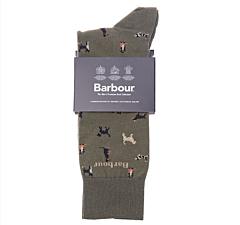 Barbour Mavin Socks Mid Olive/Dog