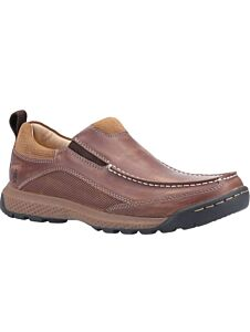 Hush Puppies Duncan Slip On Shoes Brown
