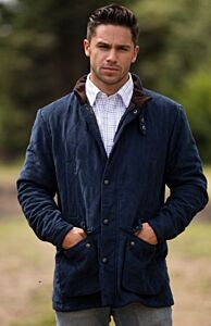 Alan Paine Felwell Mens Quilted Jacket Dark Navy
