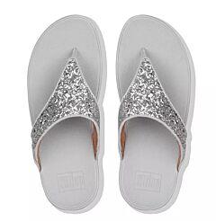 Fitflop Lulu Glitter Toe-Post Sandals Silver