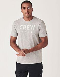 Crew Clothing Graphic T-Shirt Grey Marl