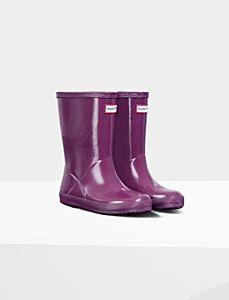 Hunter Kids Original First Wellington Boots Gloss Purple