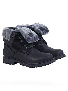 Barbour Hamsterley Roll Top Boots Black