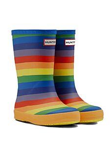 Hunter Kids First Classic Rainbow Print Wellies Multi