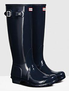 Hunter Women's Original Tall Gloss Boot Navy