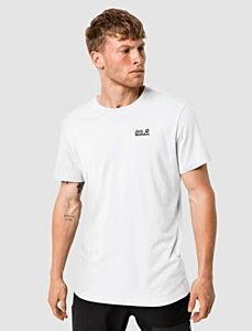 Jack Wolfskin Men's Essential T-Shirt White Rush
