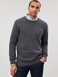Joules Jarvis Crew Neck Jumper Grey Marl