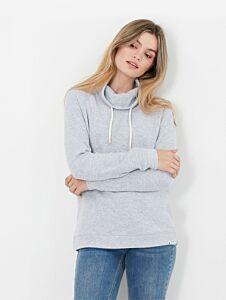 Joules Nadia Ribbed Sweatshirt Grey Marl