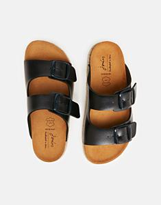 Joules Reina Slider Sandals Metallic