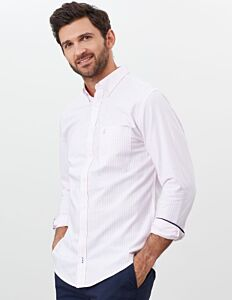 Joules Laundered Oxford Long Sleeve Shirt Pink Stripe