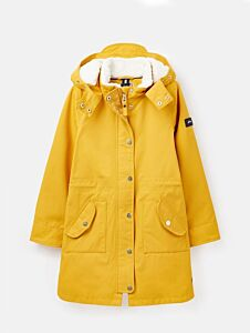 Joules Girl's Loxley Cosy Sherpa Lined Parka Antique Gold