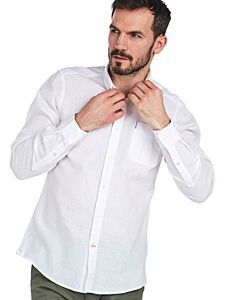 Barbour Linen Mix 1 Tailored Shirt White