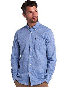 Barbour Linen Mix 1 Tailored Shirt Blue