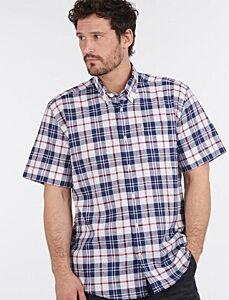Barbour Linen Mix 6 Short Sleeve Regular Fit Shirt White
