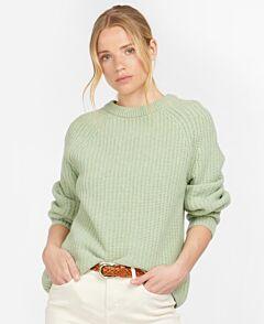 Barbour Woman's Hartley Knit Jumper Soft Sage Marl