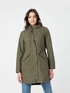 Joules Loxley Longline Waterproof Jacket Grape Leaf