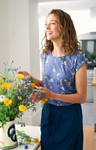 Lily and Me Everyday Linen Skirt Navy