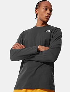 The North Face Men's Long Sleeved Red Box Tee Grey/Gold