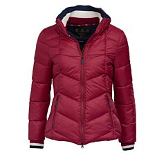 Barbour Gangway Quilted Jacket Deep Pink/Navy