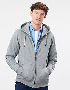 Joules Mayday Garment Dyed Hoody Grey Marl