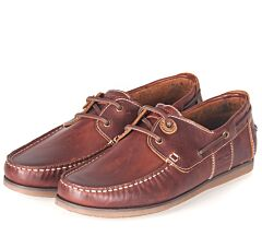 Barbour Capstan Boat Shoes Mahogany Leather
