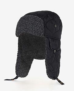 Barbour Sandbay Quilted Trapper Hat Black