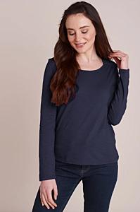 Mistral Lace Shoulder Detail Long Sleeve Tee Eclipse