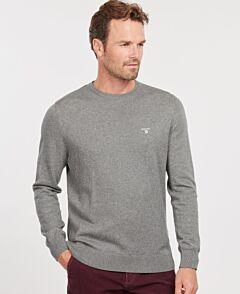 Barbour Men's Essential Cotton Cashmere Crew Jumper Grey Marl