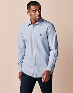 Crew Clothing Men's Classic Fit Micro Gingham Shirt Sky